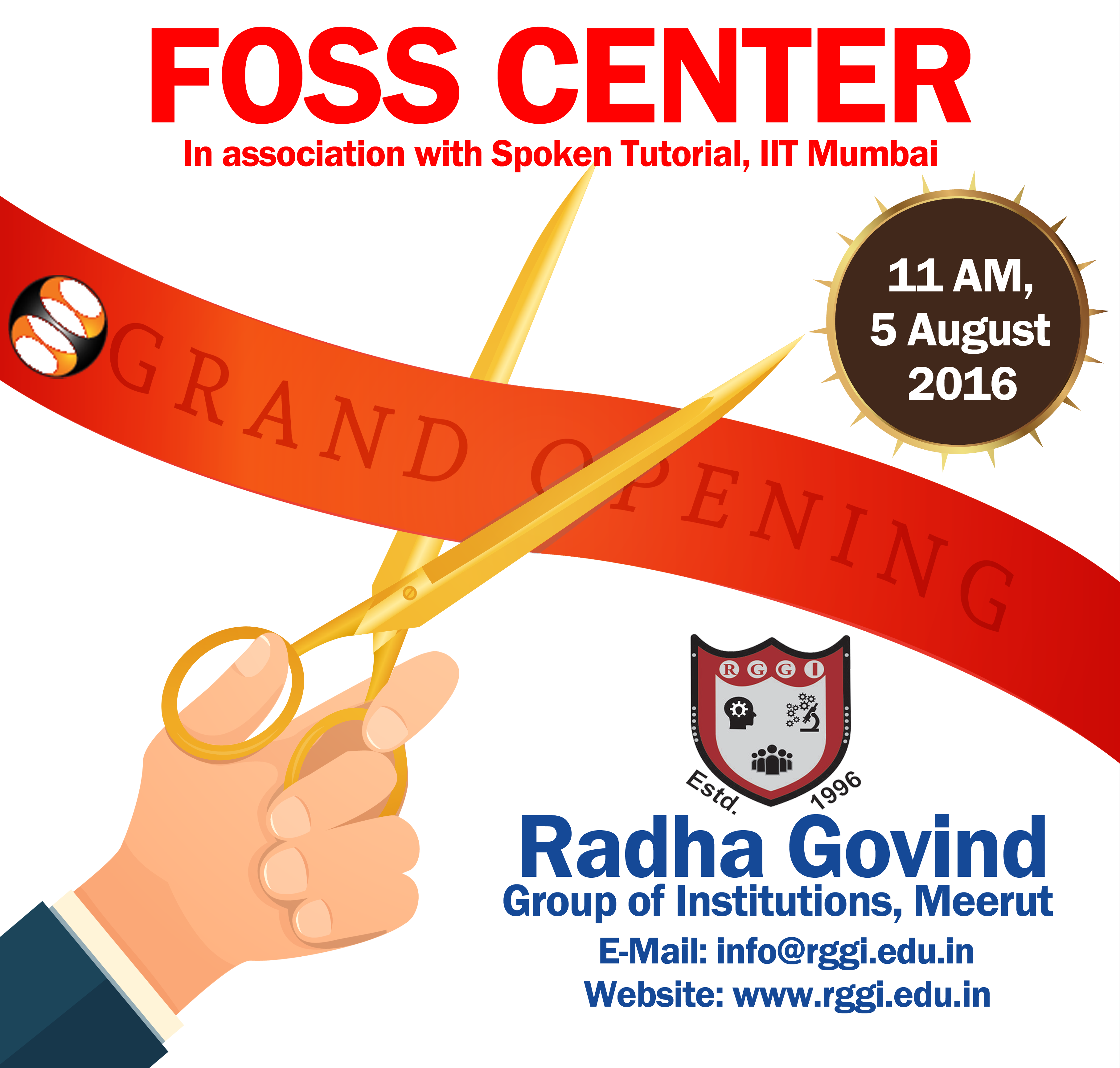 Invitation for inauguration of FOSS Center