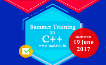 Summer Training on C++